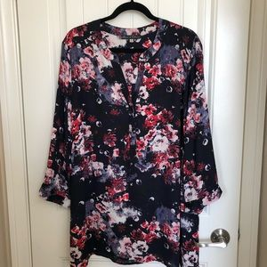 Rose and Olive Floral Blouse (size 3X)